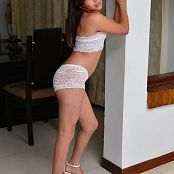 Silver Pearls Marisol White Lace Picture Set 001