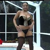 Christina Model Busty In Black Stockings Video