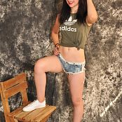 Silver Moon Teia Denim Shorts Picture Set 008