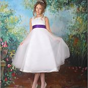 TeenModelingTV Alissa White & Purple Dress Picture Set