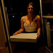 Xev Bellringer Pizza Girl Blackmailed Into Blowjob HD Video