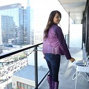 Andi Land Purple Leather HD Video