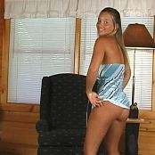 Christina Model Blue Wavy Dress Dance Tease Video