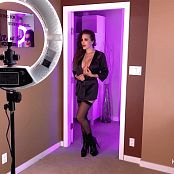 Katie Banks Red Lips Pics BTS HD Video