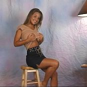 Christina Model White Satin Panties Video