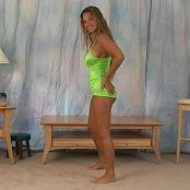 Christina Model Tight Green Dress Babe Video