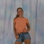 Christina Model Tommy Shorts & Orange Shirt Video