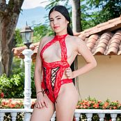 Dulce Garcia Red Lingerie TCG Picture Set 013