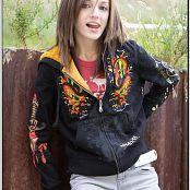 TeenModelingTV Chloe Black Hoody Picture Set