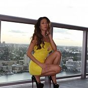 KTso Yellow Dress Strip HD Video