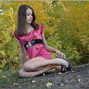 TeenModelingTV Kristine Pink Dress Picture Set