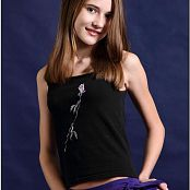 TeenModelingTV Kristine Purple Pants Picture Set