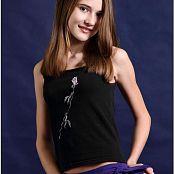 TeenModelingTV Kristine Purple Pants Picture Set