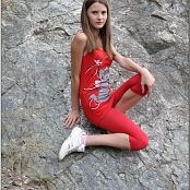 TeenModelingTV Kristine Red Tank Top Picture Set
