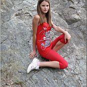 TeenModelingTV Kristine Red Tank Top Picture Set
