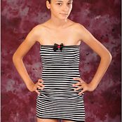 TeenModelingTV Mari Striped Mini Dress Picture Set