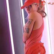 Liz Katz Cute Pizza girl Cosplay Striptease Video