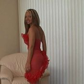 Christina Model Sheer Red Dress Striptease Video