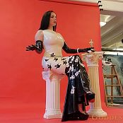 Goddess Alexandra Snow Latex Photoshoot Part 2 HD Video