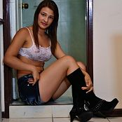 Silver Dreams Luna Denim Shorts Picture Set 001