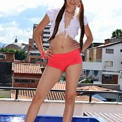 Silver Dreams Perla Red Shorts Picture Set 001