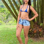Silver Pearls Dulce Denim Shorts Picture Set 003