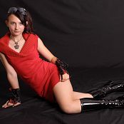 Silver Stars Taira Red Dress Picture Set 001