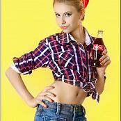 TeenModelingTV Masha Plaid Top Picture Set