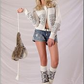 TeenModelingTV Masha White Sweater Picture Set