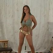 Christina Model Gold Shorts & Sheer Video