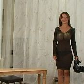 Christina Model Yellow & Brown Sheer Dress Video