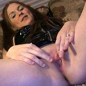 Shiny Megan Black Latex Pussy Rub HD Video