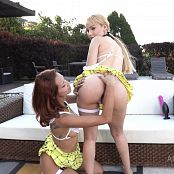 Natasha Teen & Veronica Leal Outdoor Gangbang & Piss Drink NT068 HD Video