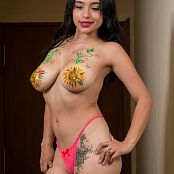 Pamela Martinez Body Paint TCG Bonus Level 1 Picture Set 017