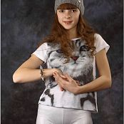 TeenModelingTV Eva Kitty Tee Picture Set