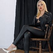 Goddess Kim Smoke Slave For Leather Goddess HD Video