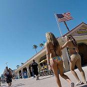 Candid Califas Sexy Ass Teen Bikini Duo HD Video