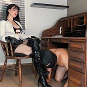 Goddess Kim Boot Slave In Chastity HD Video