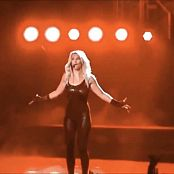 Download Britney Spears Skin Tight Black Catsuit POM Tour HD Video