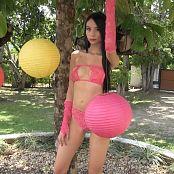 Download Ximena Gomez Pink T-Back Lingerie Bikini TM4B HD Video 019