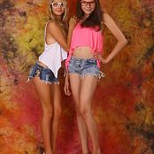 Download Silver Stars Mika & Amy Friends Denim Shorts Picture Set 1