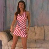 Download Halee Model Pink & White Striped Dress Video