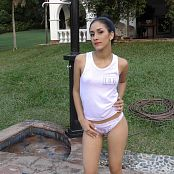 Download Ellen Medina White T-Shirt & Thong TCG 4K UHD & HD Video 002