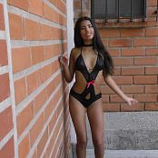 Download Wendy Mazo Black T-Back Outfit TBS 4K UHD & HD Video 005