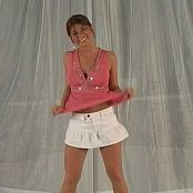 Download Halee Model White Mini & Pink Tank Top Video