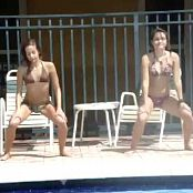 Download 2 Cute Attention Whores Dancing By Public Pool Video