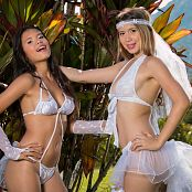 Download Tammy Molina & Poli Molina Beautiful White Lingerie Group 5 TCG Picture Set 005