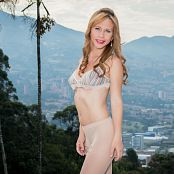 Download Mary Mendez White Tights & Bikini Top TCG Picture Set 003