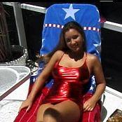 Download Christina Model Shiny Red PVC Dress Dance Tease Video