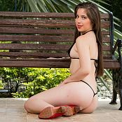 Angie Narango Black Micro Bikini TCG Picture Set 004